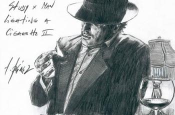Man Lighting a Cigarette II