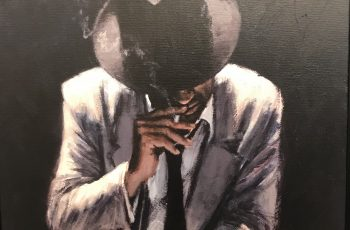 Smoking Under the Light with White Suit